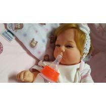 Bebê Reborn Isabella Toda Em Vinil Linda Promoção