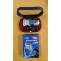 Kit Mini Barbeador Aparador Recarregável Com Caixa Estojo