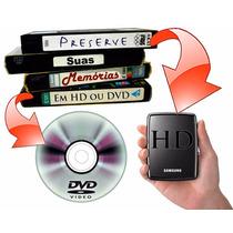Conversão De Vhs - Hi8 - Pra Dvd Garantido E Seguro