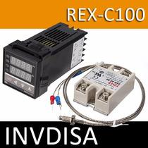 Pirómetro Digital Control De Temperatura Pid Rex-c100