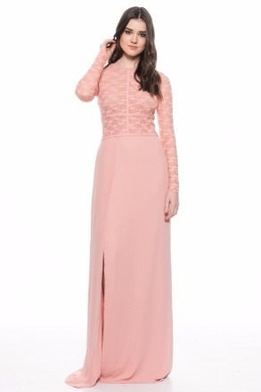 Imagenes de vestidos largos rosa palo