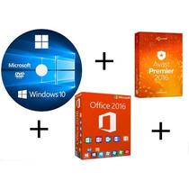 Cd Instalação Windows 10 32/64 + Office 2016 + Avast Premier