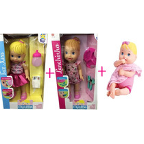 Kit Babys Faz Xixi + Lanchinho + Nenenzinha Alive Divertoys