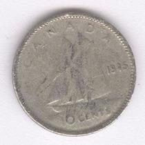 Canada 10 Cents De 1945 De Plata (216h)