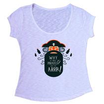 T-shirt Blusa Feminina Em Tecido Flamê Com Elastano - F023
