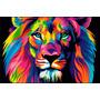 Leon Power Full Canvas Bastidor 90x60 Cm Exelente Envios