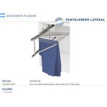 Pantalonero Lateral De 12 Perchas Cromado Con 2 Correderas
