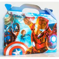 Cajita Bolsita Avengers / Los Vengadores Souvenirs Pack X40