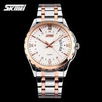 Relógio Masculino Clássico Importado De Marca Prata Original