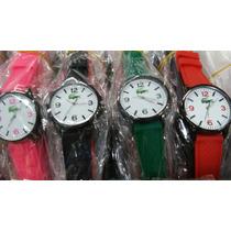 Kit Relógio Unisex Pulseira Silicone Atacado/revenda Lote 10