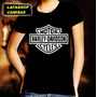 Camiseta Harley Davidson Baby Look Feminina Camisa Moto Rock
