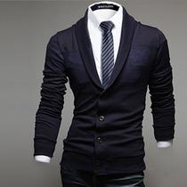 Suéter Estilo Saco Blazer Caballero Slim Fit Elegante Casual