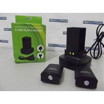 Carregador Duplo Mesa Xbox 360 Com 2 Baterias Recarregáveis