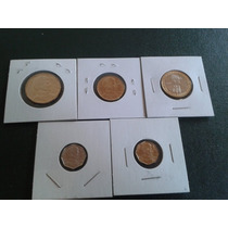 Lote De 5 Monedas De Chile.