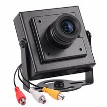 Mini Câmera De Segurança Ccd 800 Linhas Micro Filmadora Cftv