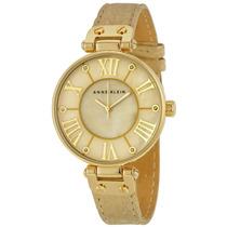 Reloj Anne Klein Acero Tono Dorado Piel Mujer Ak/1012gmgd