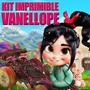 Kit Imprimible Vanellope De Ralh El Demoldedor 2x1