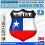 Calcomanias 3d Con Relieve, Accesorio Autos Escudo De Chile