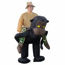 Fantasia Inflável De Gorila Modelo Adulto Pronta Entrega