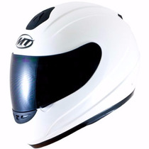 Casco Integral Polarizado Mt Thunder Blanco Urquiza Motos