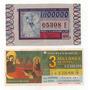 Argentina Lote De 2 Billetes De Loteria Nacional