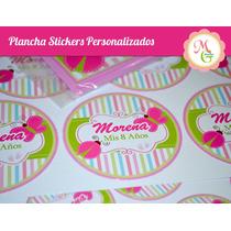Stickers Golosinas Personalizadas - Por Plancha