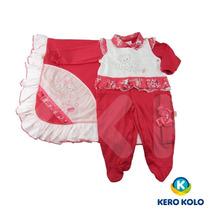 Kit Saída Maternidade Paraíso Moda Bebê 1 Vestido Kero Kollo