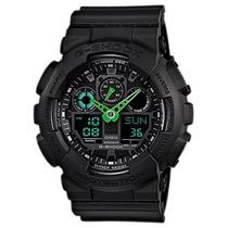 Relógio Casio G-shock Ga-100c 1a3 Wr200 5 Alarme Hora Nf-e