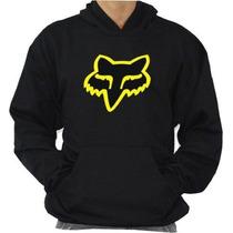 Blusa De Moleton Logo Fox Racing Otima Qualidade!