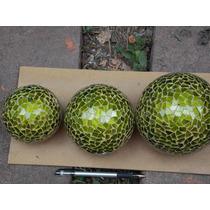 Juego De Esferas De Vitromosaico Verdes