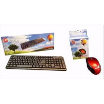 Kit Teclado + Mouse Usb Ergonomico Global Electronics