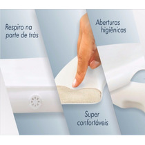 Tampa Assento Sanitário Almofadado Branco / Vaso Privada
