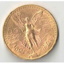 Mexico 50 Pesos 1921 Rarissima 41,7 Gr Ouro 900 Ou 37,5 Puro
