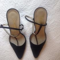 Sapato Chanel Numero 37 Tecido Preto