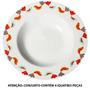 Conjunto 4 Pratos Para Sopa Birds Em Porcelana - Urban