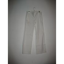 Pantalon Blanco Importado. Pata Ancha Marca Ann Taylor/loft.