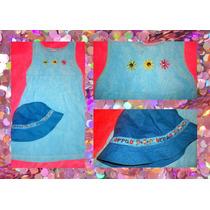 Vestido Y Gorra Playera Azul Chicas Superpoderosas Para Nena