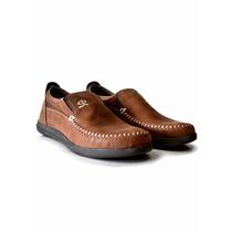 Zapatos Mocasines Cuero Vacuno Náuticos Calzado Hombre Envio