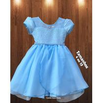 Vestido Infantil Festa Princesa Luxo Formatura Varias Cores