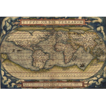 Mapa Mundi Grande Antigo Século 16 Hd Decorar Sedex Grátis