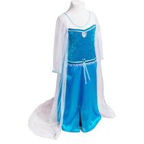 Disfraz Elsa Frozen Vestido Princesas Primera Calidad