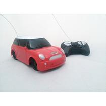 Carrinho Carro Controle Remoto Mini Cooper Vermelho 1/24
