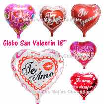 Globo Metalico San Valentin Amor Mayoreo Adorno Recuerdo