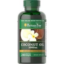 Óleo De Coco - Premium - Importado - 240 Cápsulas X 1.000 Mg