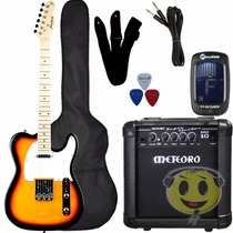 Kit Guitarra Strinberg Telecaster T-250s + Cubo Mg 10 Loja