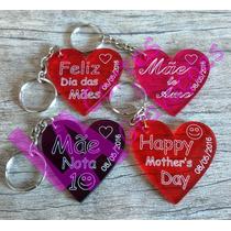 Lembrança Dia Das Mães Chaveiros Em Acrílico Colorido 50 Un