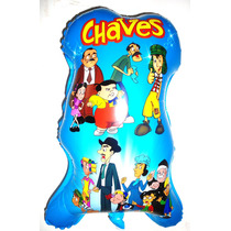 Balão Metalizado Chaves , Turma Do Chaves - Kit C/ 15 Balões