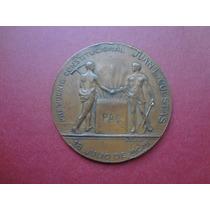 Medalha Bronze Inauguração Porto De Montivideo 1901