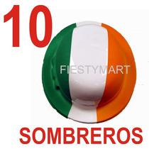 10 Sombreros Fiesta Mexicana Tricolor Evento Batucada México