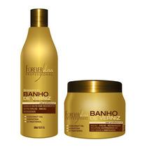 Kit Forever Liss Banho De Verniz Shampoo + Máscara 250g